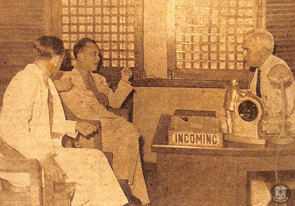 Quezon and McNutt at High Commissioner's office Elks Club (courtesy Presidential Museum and Library)
