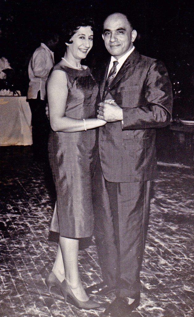 Paul and Victoria Dib in 1958.  Abla and Tony Assad and Mooha and Felix Assad.  Party at Polo Club for Lebanese delegates.  (courtesy Carol Dib Furer)
