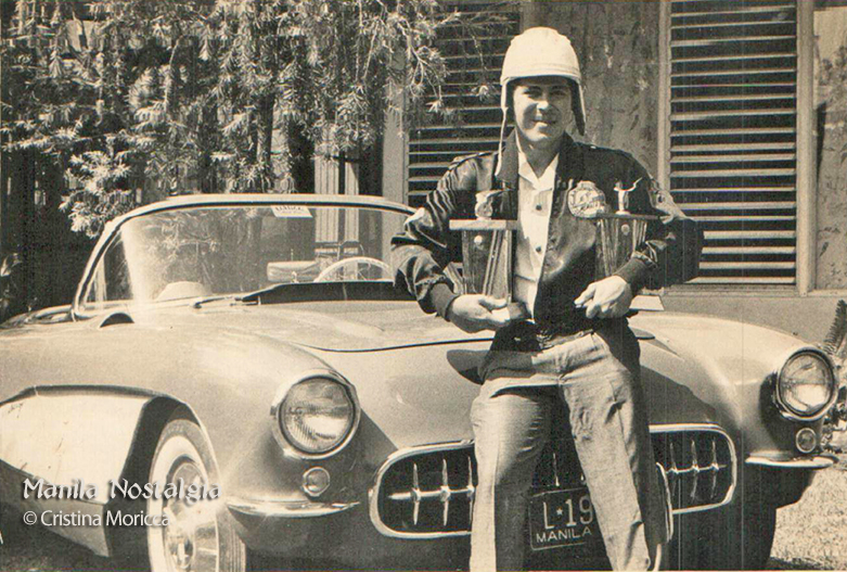 Robert Smith with 1957 Corvette (courtesy Cristina Moricca)