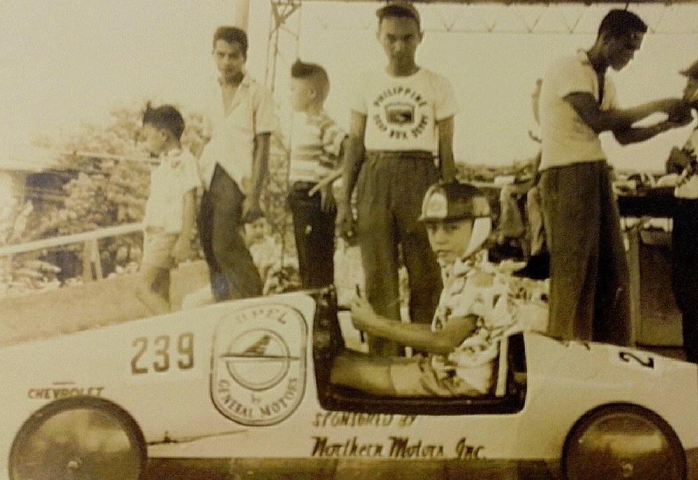 Soapbox derby racer driver Jesus Emmanuel Lopez in 1960 (courtesy Louie de Leon)
